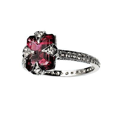 Colored Engagement Rings   Black Diamond Ring