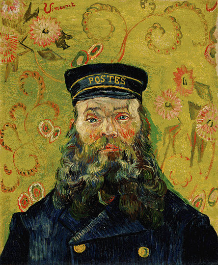 "vincent van gogh postman 21""x15"" oil on canvas 1889"
