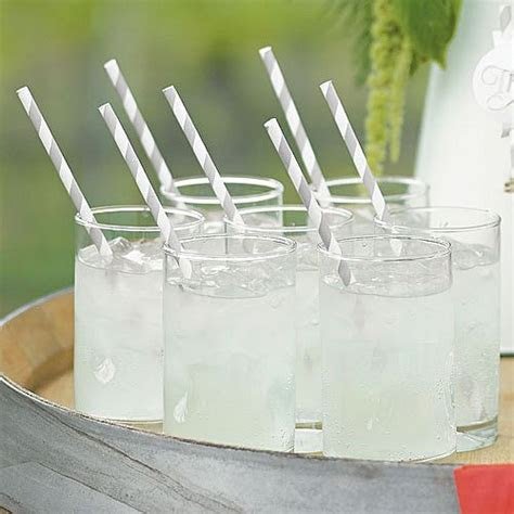8 Inch Striped Paper Drinking Straws (75 Count)
