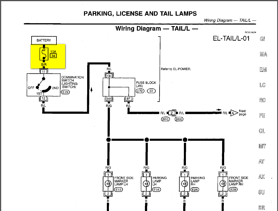 96 Infiniti I30 Fuse Box Diagram