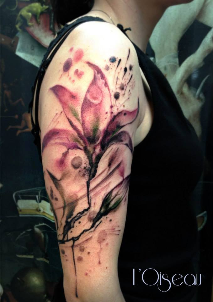 55 Awesome Lily Tattoo Designs Art And Design