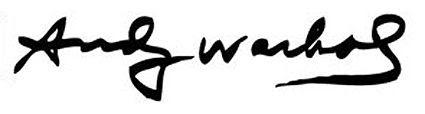 Andy Warhol Signature
