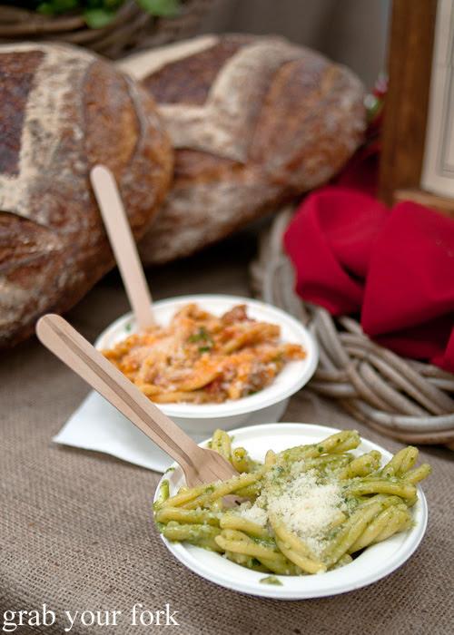 Strozzapreti with basil pesto and rich ragu by Pasta Emilia at the Sunday Marketplace, Rootstock Sydney 2014