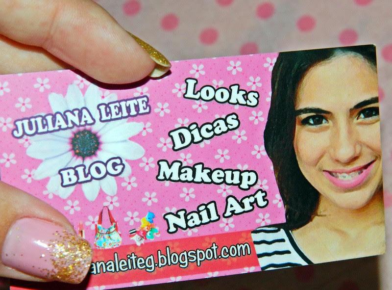 maquiagem tropical + cartão de visitas do blog !