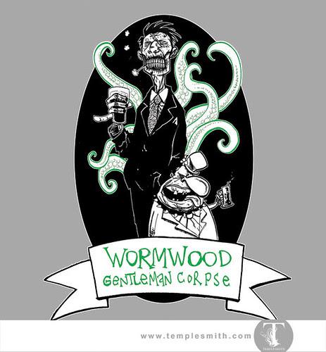 Wormwood Pint Glasses: Wormwood Gentleman Corpse