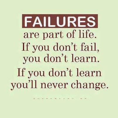 Inspirational Picture Quote Failures Are Part Of Life If You Don