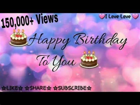 whatsapp happy birthday status video youtube birthday