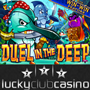 Exotic Sea Creatures Battle it Out in Lucky Club Casinos New Duel in the Deep Slots Game