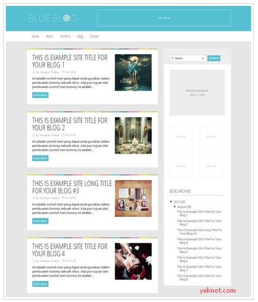 Blue Blog Blogger Teması İndir
