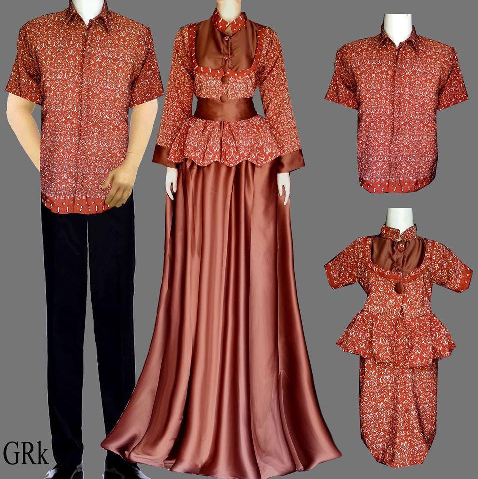 Model Baju Gamis Batik Untuk Ke Pesta Hijab Nemo