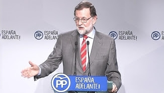 Mariano Rajoy, en la roda de premsa d'aquest dilluns a Madrid
