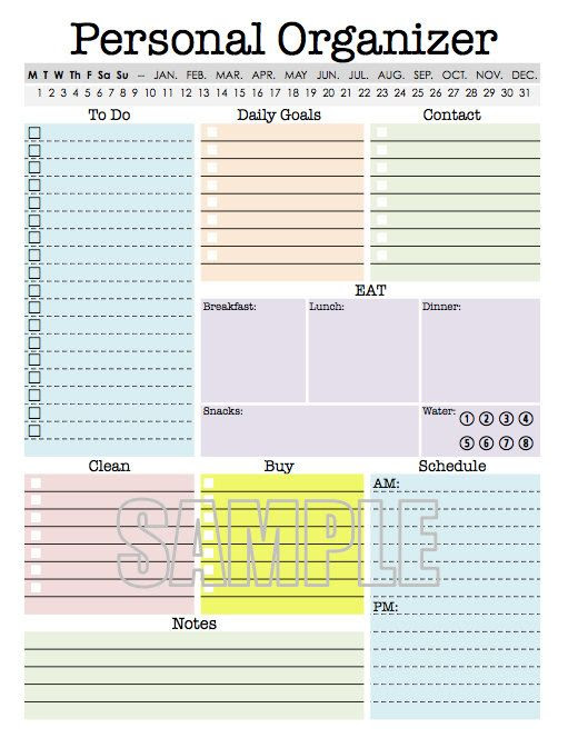 Circles, Activities and Personal organizer on Pinterest