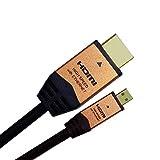 HORIC HDMIマイクロケーブル 2.0m タイプDオス-タイプAオス ゴールド HDM20-017MCG
