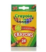 Crayola Crayons, Nontoxic, 24ct - Multicolor,