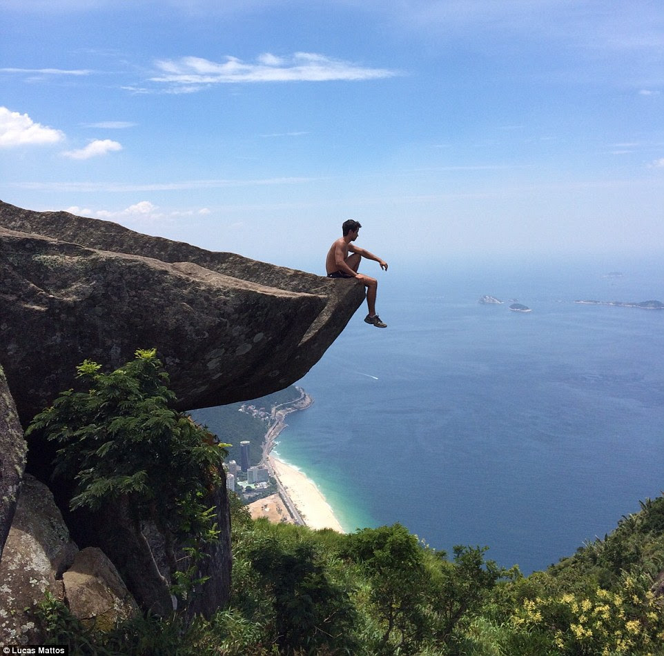 Some visitors, like Lucas Mattos, got dangerously close to the edge for the perfect photo opportunity. Often, these images have hundreds if not thousands of likes on Instagram