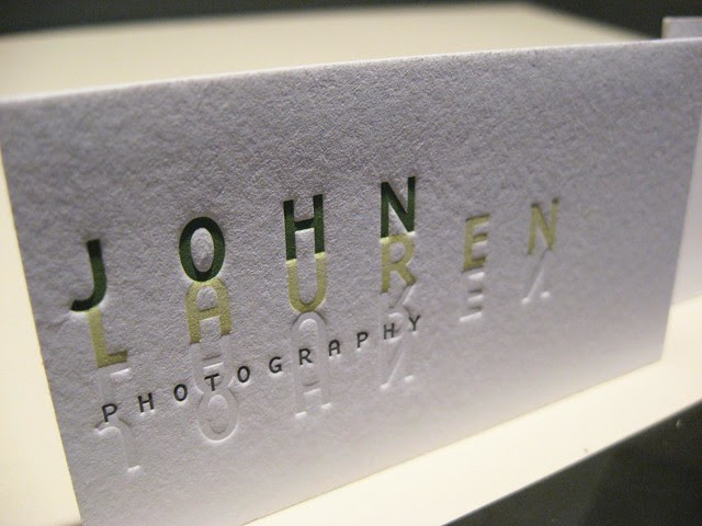 John Lauren Photography Letterpress Cards