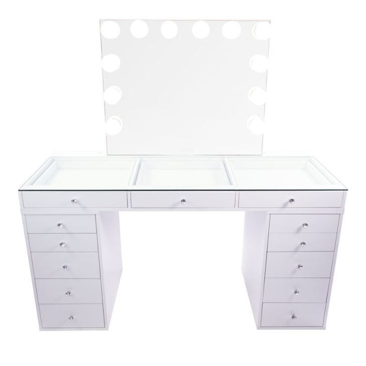 China Sparking White Glass Top Fantasy Makeup Vanity Table