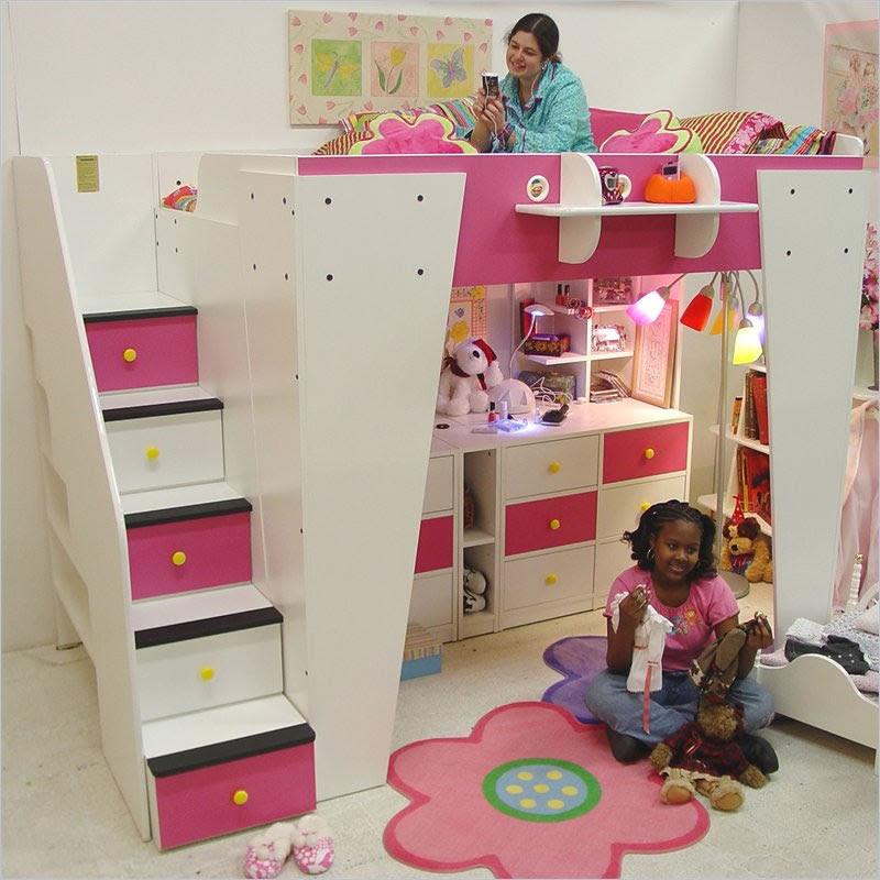 Berg Furniture Kid's Headquarters Loft Bed with Storage