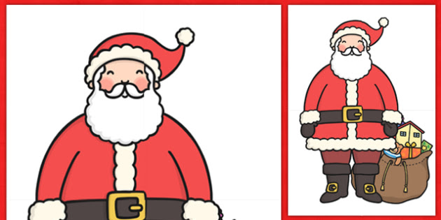 Extra Large Display Santa Cut-out - Christmas, xmas, santa