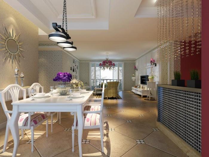 subtle art deco inspired lounge dining luxury china