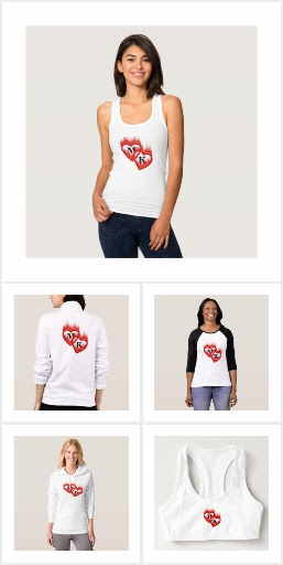 Hearts on Fire Double Monogram Valentine Shirts