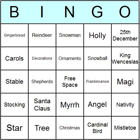 christmas bingo cards generator