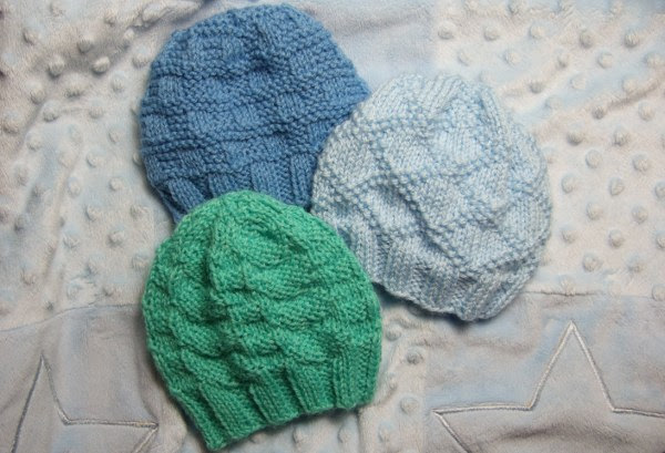 Textured Baby Hats for Straight Needles  Baby Clothing Knitted My Patterns   Mamas Stitchery