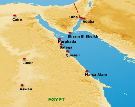 Egypt Cradle Of Civilization The Underwater Heaven Of The Red Sea - Map of egypt landforms