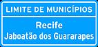 Placa de Identificacao de limite de Municipios, divisa de Estados, fronteira, perimetro urbano 01