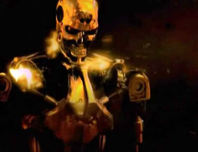 A Terminator advances upon its prey in the pilot episode of TERMINATOR: THE SARAH CONNOR CHRONICLES.