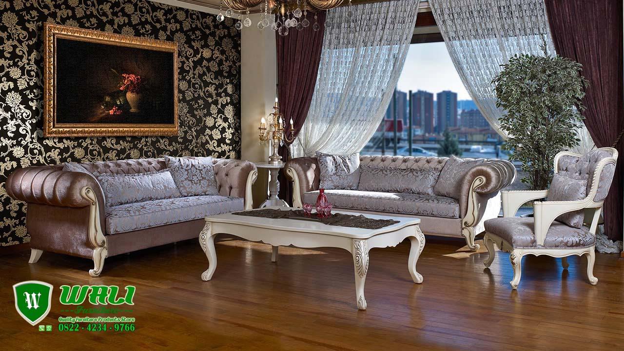Sofa Tamu Mewah Elegan Model Eropa Terbaru 2017 Wali Furniture