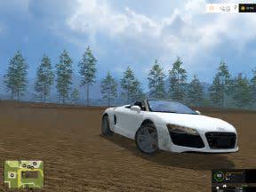 Audi R8 V10 Spyder Car V 1.0   Farming Simulator 2017 mods, Farming Simulator 2015 mods, FS 2015