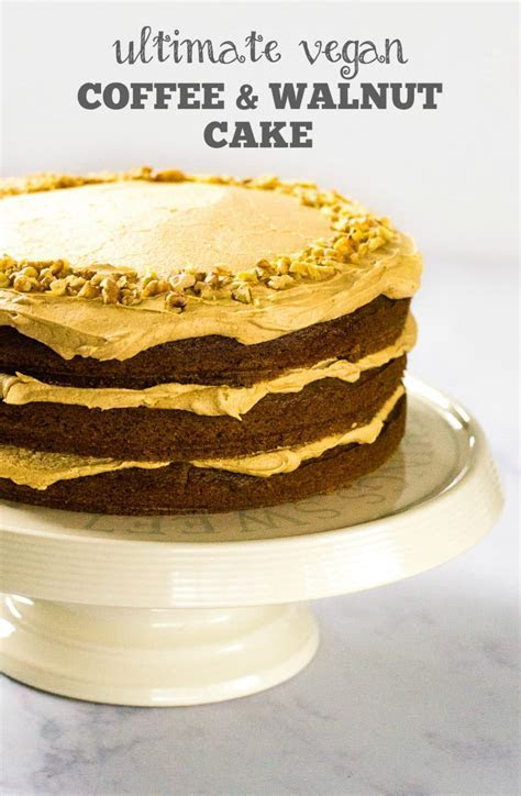Recipe: The Ultimate Vegan Coffee & Walnut Cake   The Veg