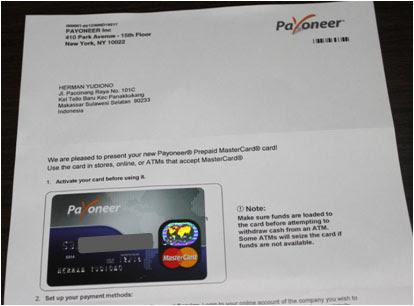 Surat dari Payoneer