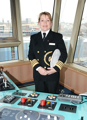Captain Olsen onboard the Queen Victoria