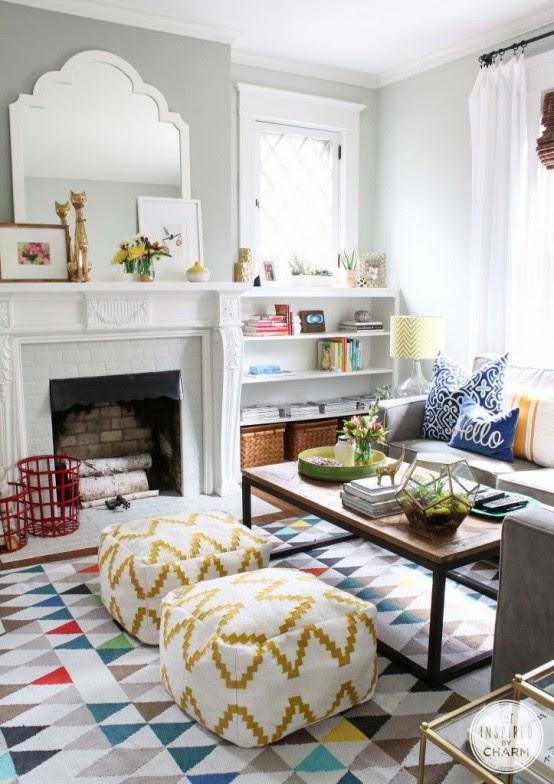 33 Cheerful Summer Living Room Décor Ideas - DigsDigs