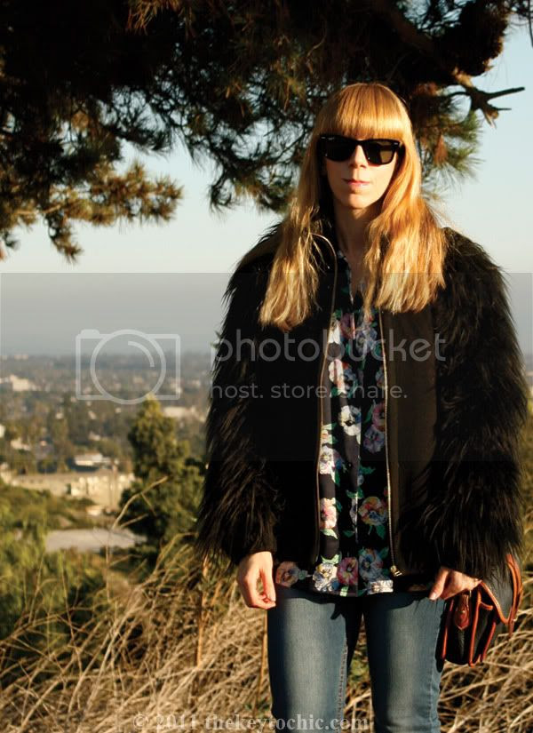 Zara faux fur jacket, gorilla sleeves, Mossimo Kacey boots, southern California fashion blog, Los Angeles fashion blogger
