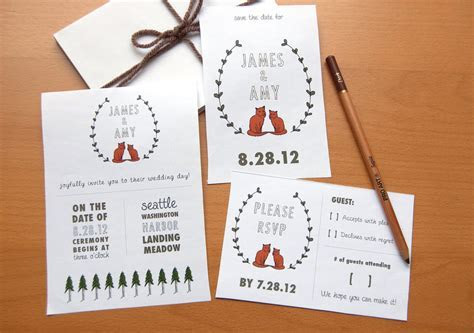 budget wedding ideas DIY invitations Etsy weddings sweet