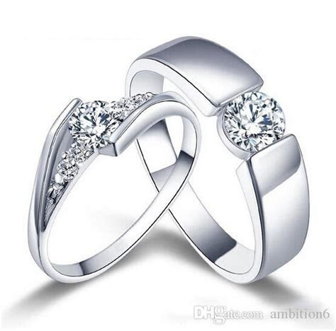 2017 Wholesale 925 Sterling Silver Rings Couple Ring