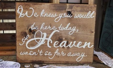 How to honor loved one at wedding who passed away   sign
