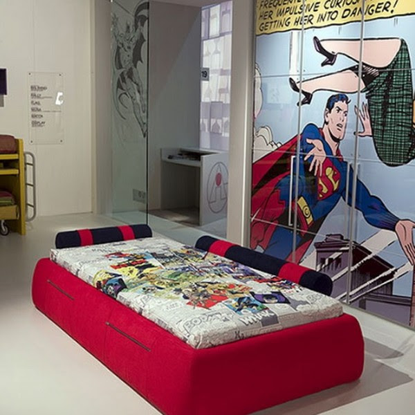 cool kids bedrooms with superman themes 600x600