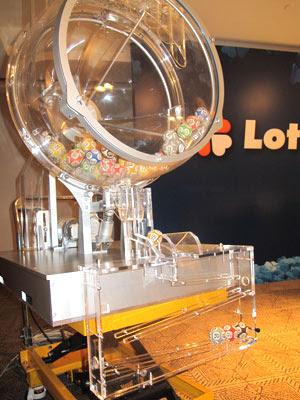 Globo usado para o sorteio das loterias da Caixa