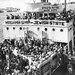 Jewish refugees streaming into Israel in 1947.