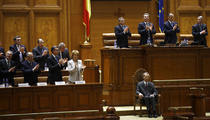 Regele Mihai in Parlament