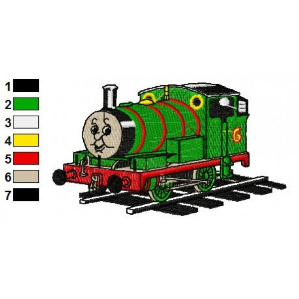 Henry Thomas The Train Embroidery Design
