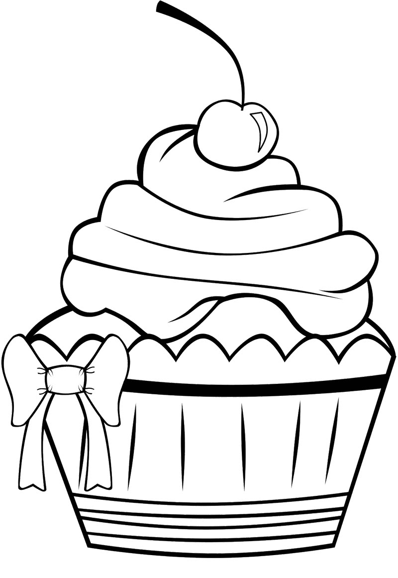 Free Cupcake Line Drawing Download Free Clip Art Free Clip Art On