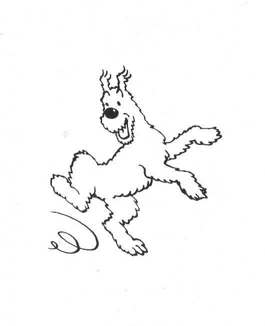 Dibujo De Perrito Jugueton Para Pintar Y Colorear Perro Saltando De