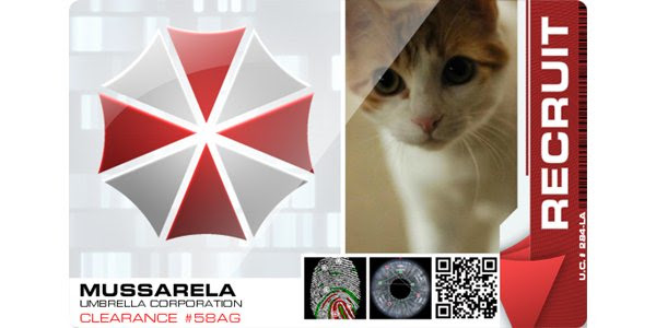 Crie seu crachá da Umbrella Corporation