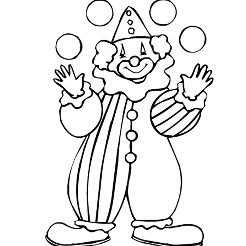 Tete De Clown Az Coloriage