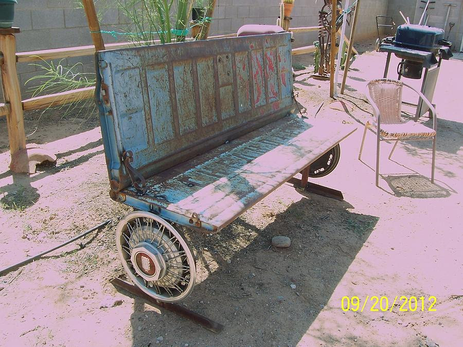 Chevy Tailgate Bench Sculpture by JP Giarde - Chevy Tailgate Bench ...